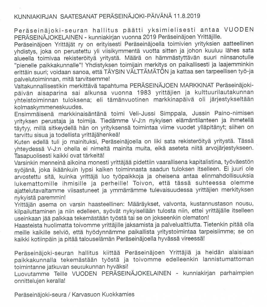 Tämän kuvan alt-attribuutti on tyhjä; Tiedoston nimi on Peräseinäjokiseura-Ry-tunnustus-saate-teksti-2019-891x1024.jpg